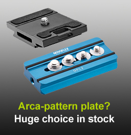 Huge range of Arca quick release plates in stock