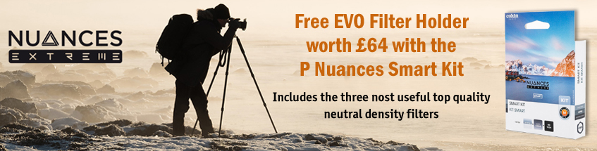 Free EVO Filter Holder worth £64 with Cokin P Nuances Smart Kit