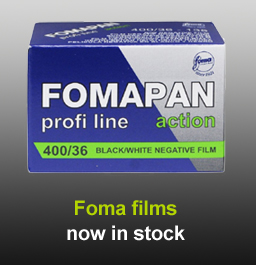 Foma film in stock at Speed Graphic