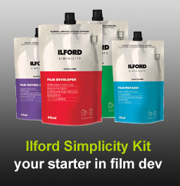 Ilford Simplicity film developing kit in stock