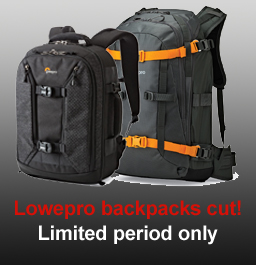 Lowepro backpacks reduced in price!