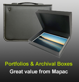 Mapac archiving boxes and portfolios