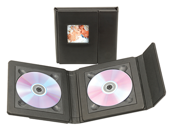 Kenro Professional Double CD Folio black