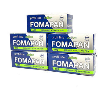 Fomapan 400 120 Roll Film 5 Pack