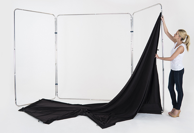 Lastolite Lb7621 Panoramic Background 4m Black Curtain