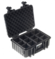 B&W 4000 Case with Dividers black