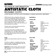 Ilford Antistatic Cloth