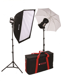 Paterson Tungsten 2 Head Softbox/Umbrella Kit