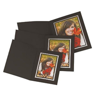 Kenro Photo Folder black 8x6 portrait