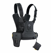 Cotton Carrier G3 Harness 2 for 2 Cameras charcoal grey