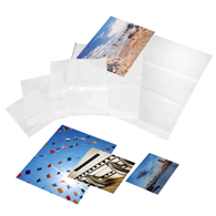 Kenro Clear Fronted Print Bags 12x17 %