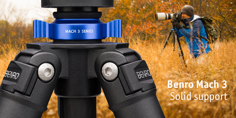 Benro Mach 3 tripods in stock at Speed Graphic