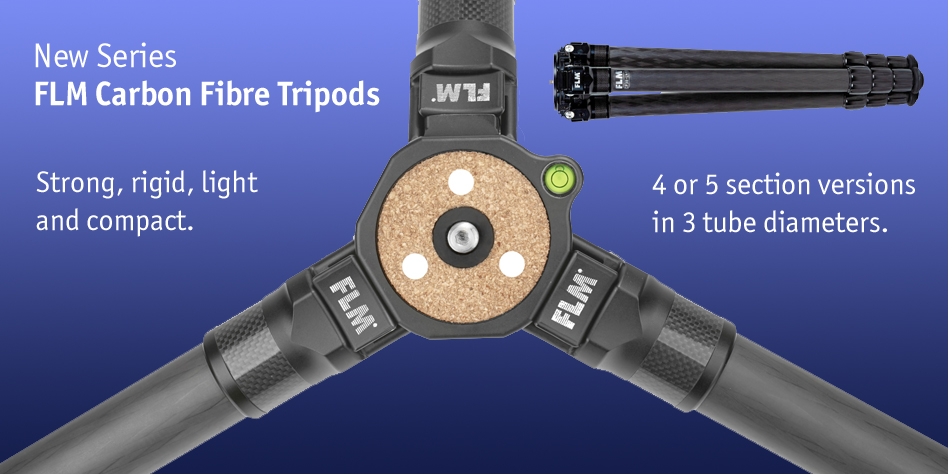 FLM carbon fibre tripods; latest 2021 series in stock